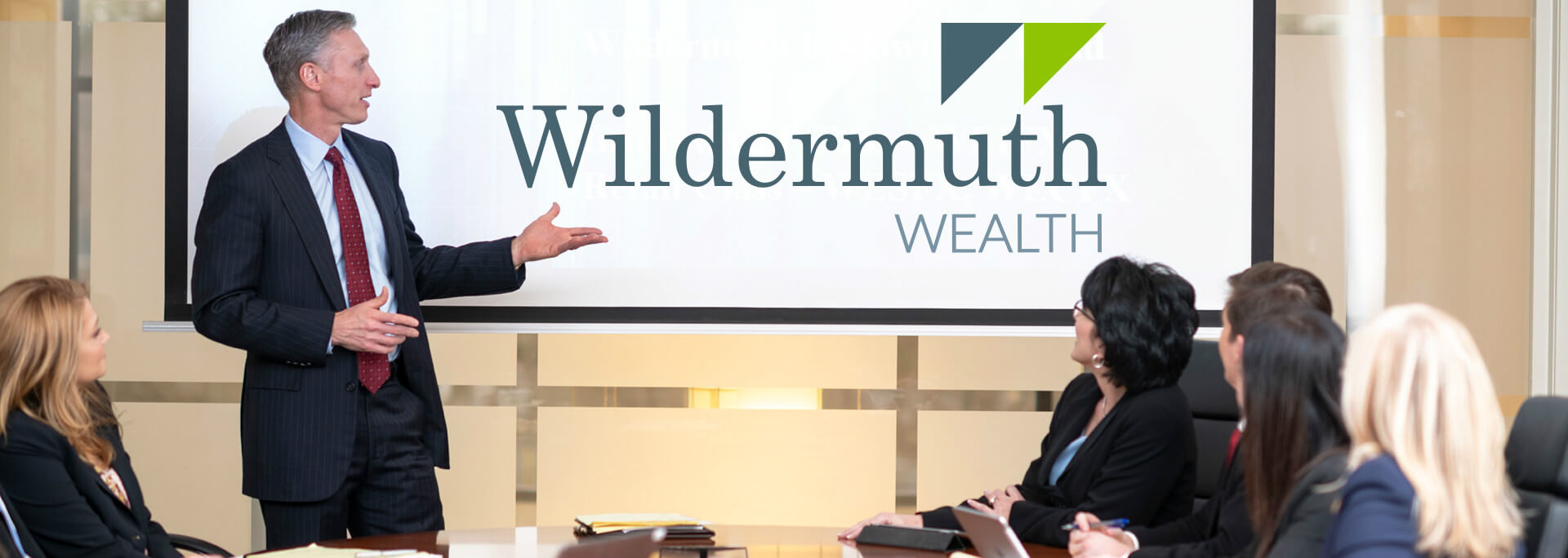 Wildermuth Wealth Atlanta home banner conference room